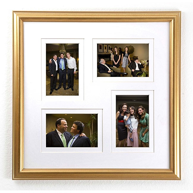 Regal Gold 4-slot Picture Frame