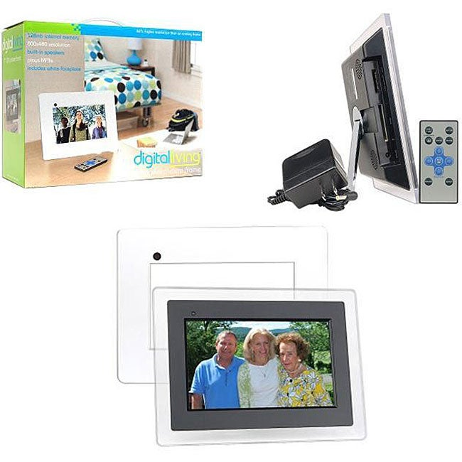 Shop Digital Living Hi Res 7 Inch Lcd Picture Frame Free Shipping