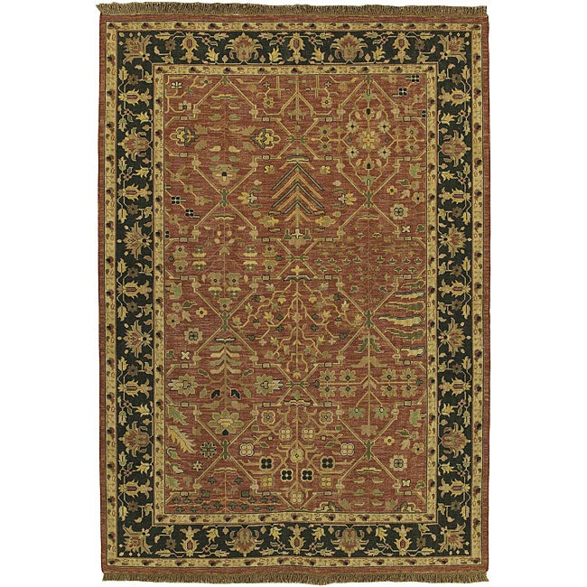 Hand-knotted Sangli New Zealand Wool Rug (10' x 14')