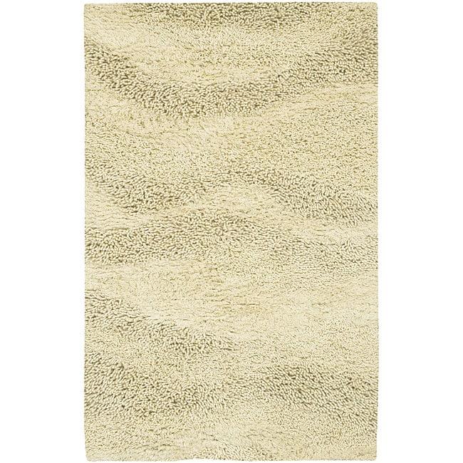 Hand-woven Tigris New Zealand Wool Area Rug (4' x 10') - 4' x 10'