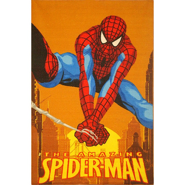 Orange Spider Man Area Rug 3 X 5 Free Shipping Today