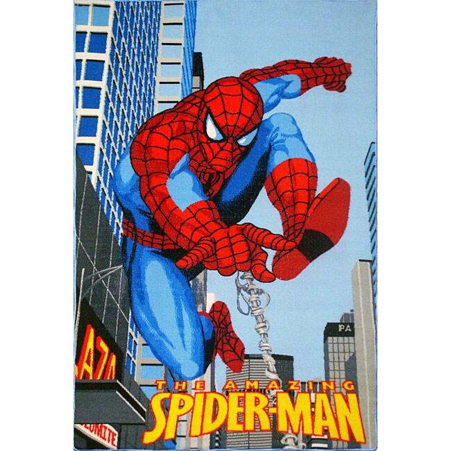 Kid's Spiderman Area Rug (5' x 8')