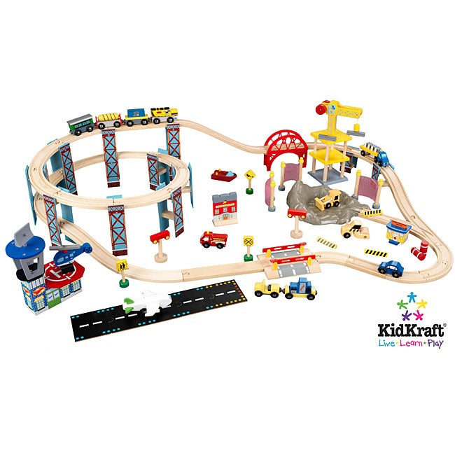City Toy Train Set