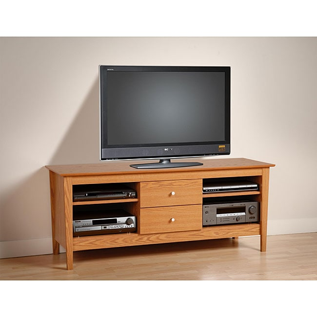 Woodhaven Oak 60-inch Flat Panel TV Console
