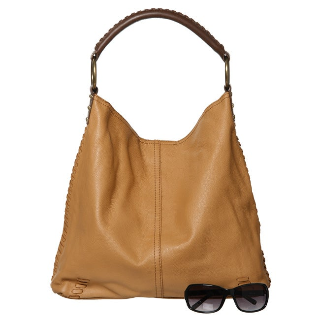 Lucky Brand Leather Slouchy Medium Handbag   Shopping