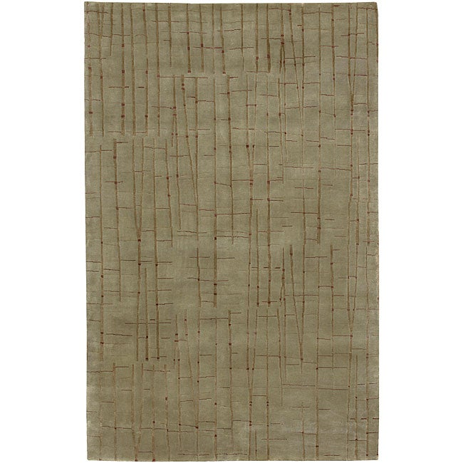 Thorndike Mills Hand-knotted Royal Abstract Design Wool R...