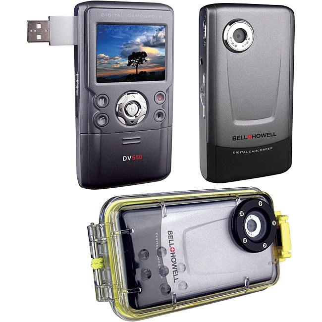 Bell and Howell DV550UW 12MP Digital Video Camera with Underwater Housing