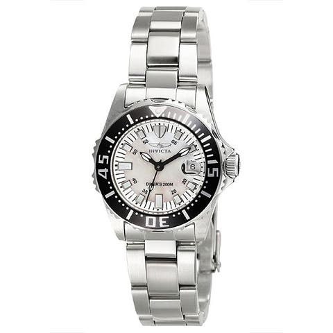Invicta Women's Pro Diver Stainless Steel White Dial Watch