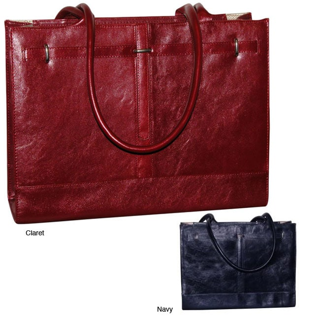 579630b68 Shop Buxton Kelly Women's Leather Laptop Bag - Free Shipping Today -  Overstock - 4450641