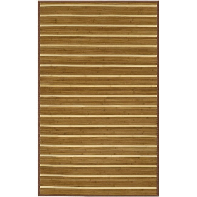 Hand-woven Brown Natural Fiber Rayon from Bamboo Rug (5' x 8')