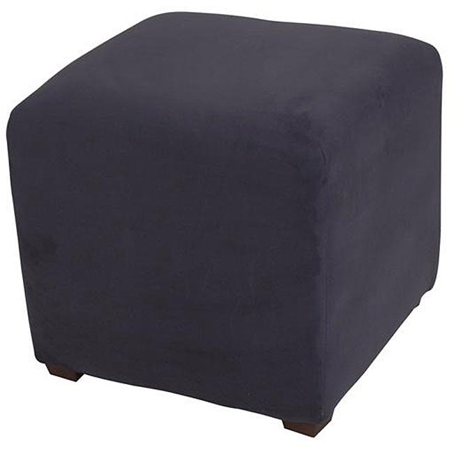 Navy Sued Cube Ottoman Free Shipping On Orders Over 45