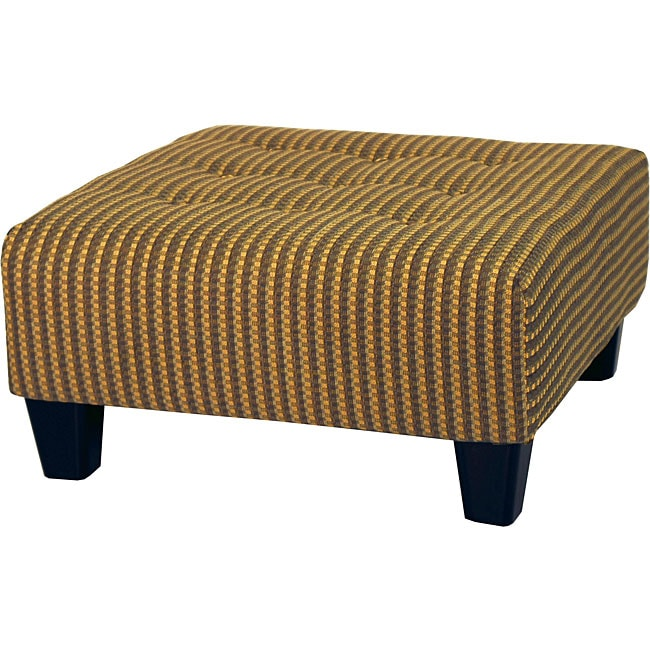 Golden Tweed Tufted Cocktail Ottoman