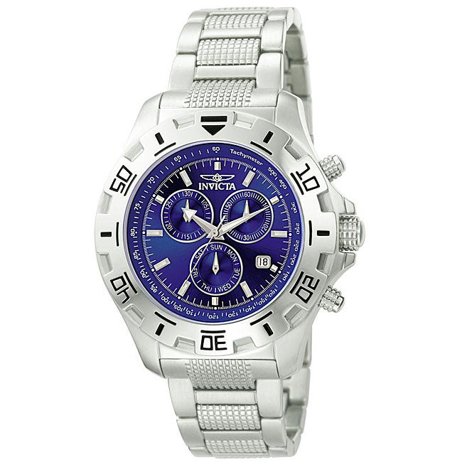 Invicta Men's Invicta II Blue Dial Steel Chronograph Watch