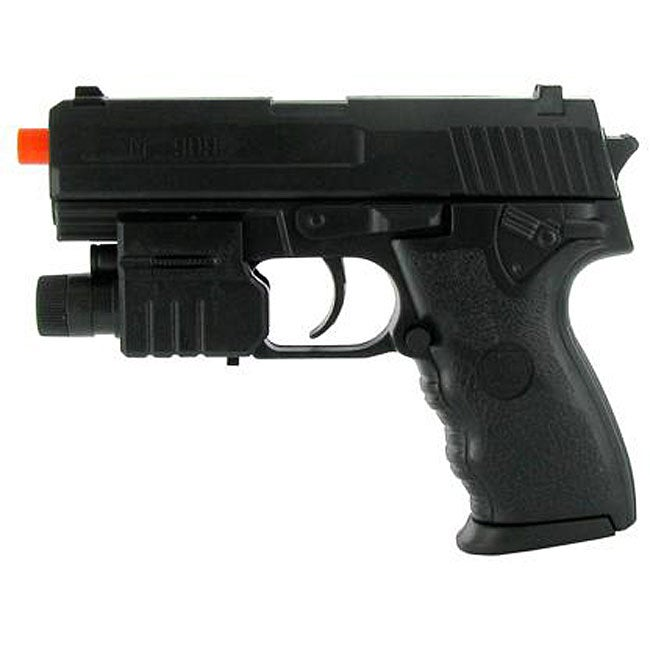 Spring Mini USP Pistol FPS-150 Laser and Flashlight Airsoft Gun