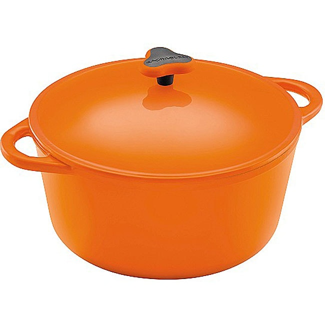 Rachel Ray Cast Iron Orange 7-quart Round Dutch Oven