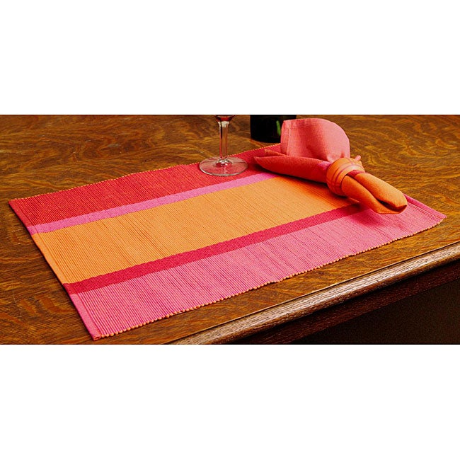 Set of 4 Pink/ Orange Tray Gift Set (India)