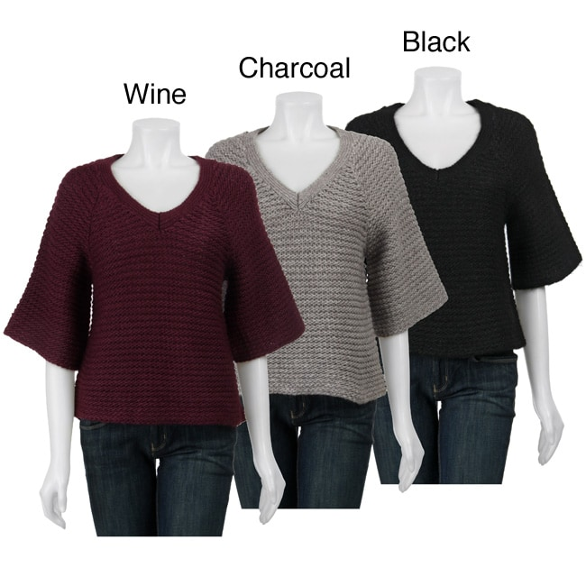 Avalin Women's Oversized V-neck Sweater