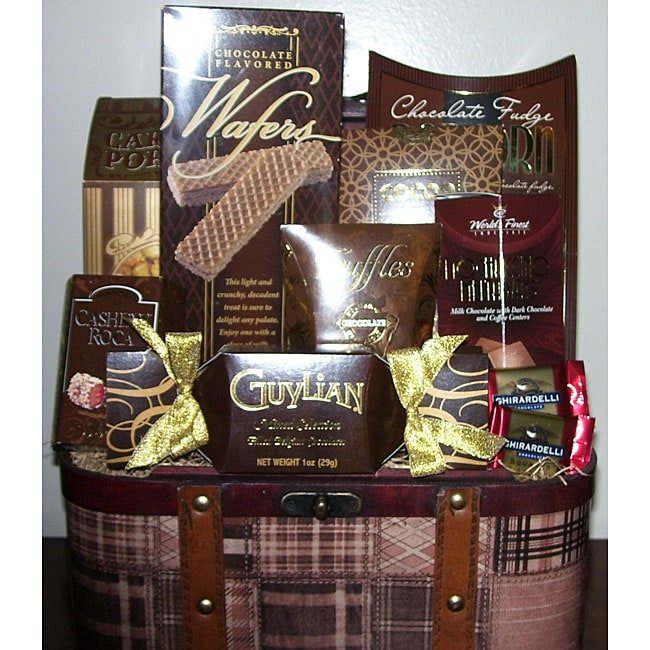 Chocolate Trunk Food Gift Basket