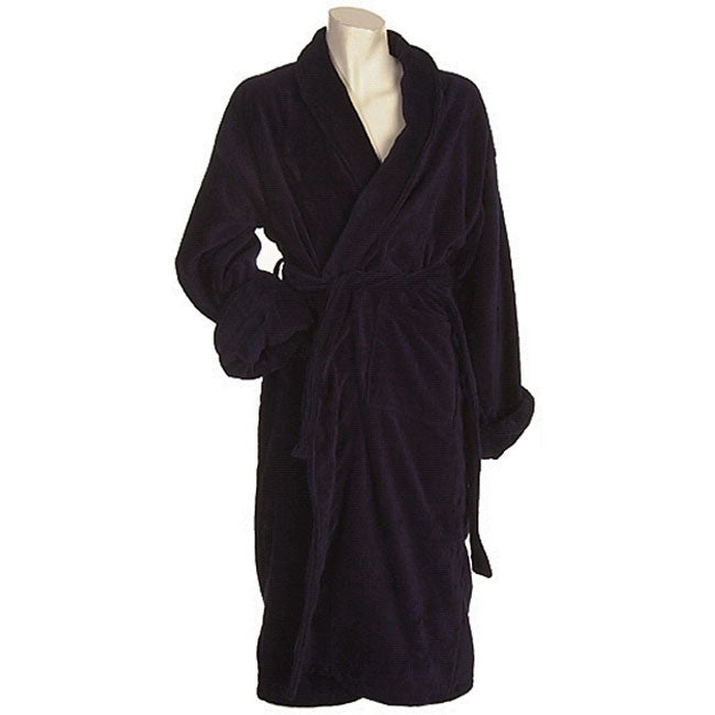 eb642d830a Shop Men s Terrycloth Navy Bath Robe - Free Shipping On Orders Over  45 -  Overstock.com - 4461307