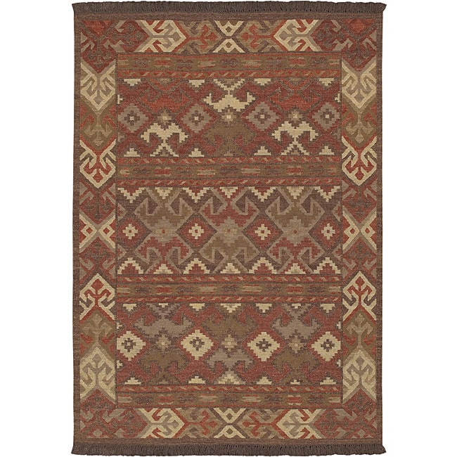 Shop Hand Knotted Multi Wool Laredo Rug 3 6 X 5 6 Free
