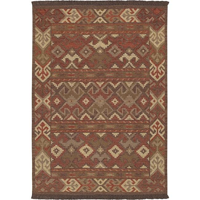 Hand-knotted Multi Wool Laredo Rug (3'6 x 5'6)