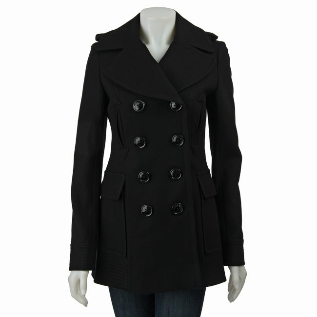 Miss Sixty Women's Double-breasted Wool Peacoat
