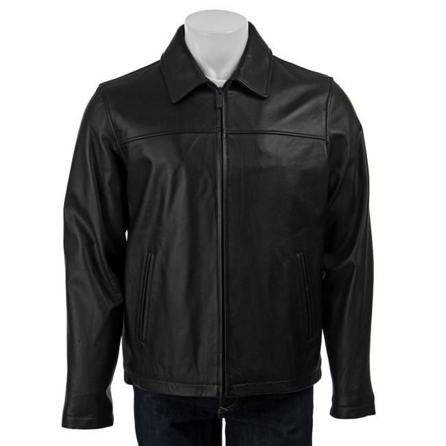 Kenneth Cole Reaction Men's Leather Jacket - Thumbnail 0