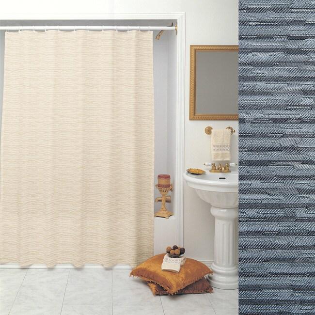 Vibrations Denim Shower Curtain