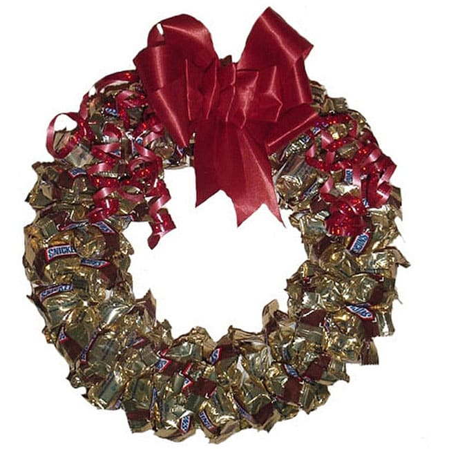 Snickers Candy Wreath