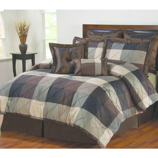 Elliot Black 8-piece Comforter Set