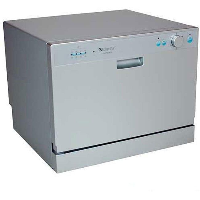 EdgeStar DWP60ES Portable Silver Countertop Dishwasher - Free Shipping ...