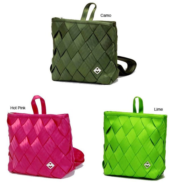 Maggie Bags Recycled Seatbelt Backpack