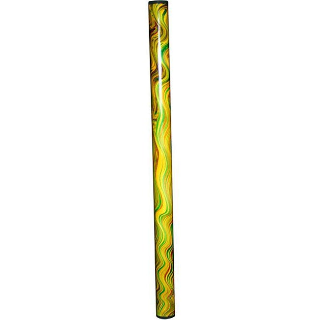 Handmade Green Swirl Rainstick (Indonesia)