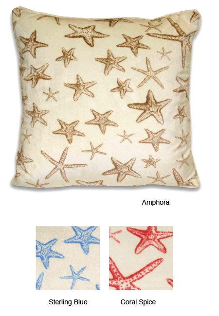 Starfish Coastal Microluxe 18-inch Throw Pillow