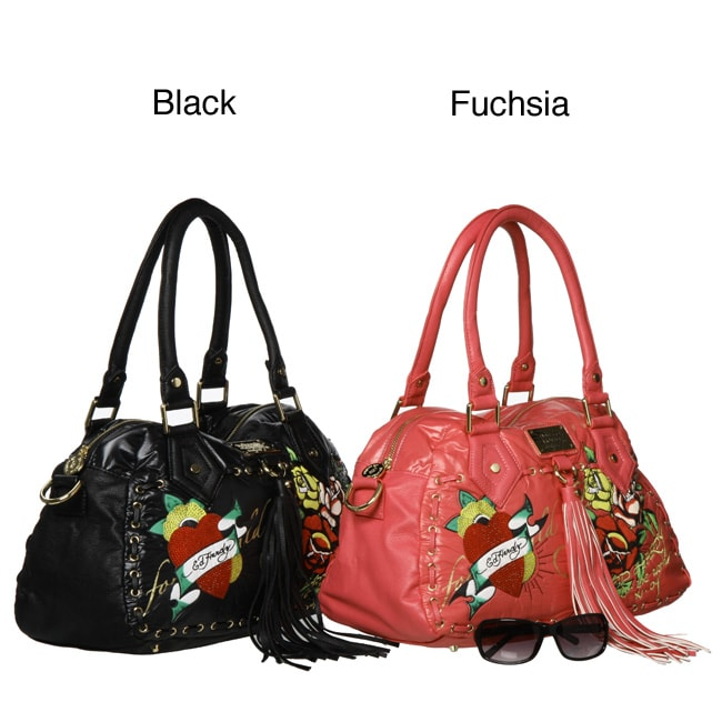 7e262c313069 Shop Ed Hardy by Christian Audigier Betty Shoulder Satchel - Free Shipping  Today - Overstock - 4486410