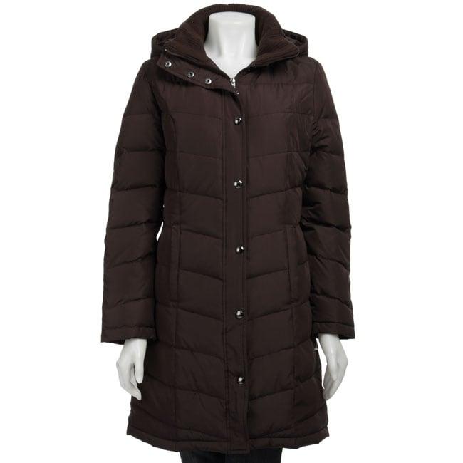 Shop Liz Claiborne Women S Snap Front Down Coat Free