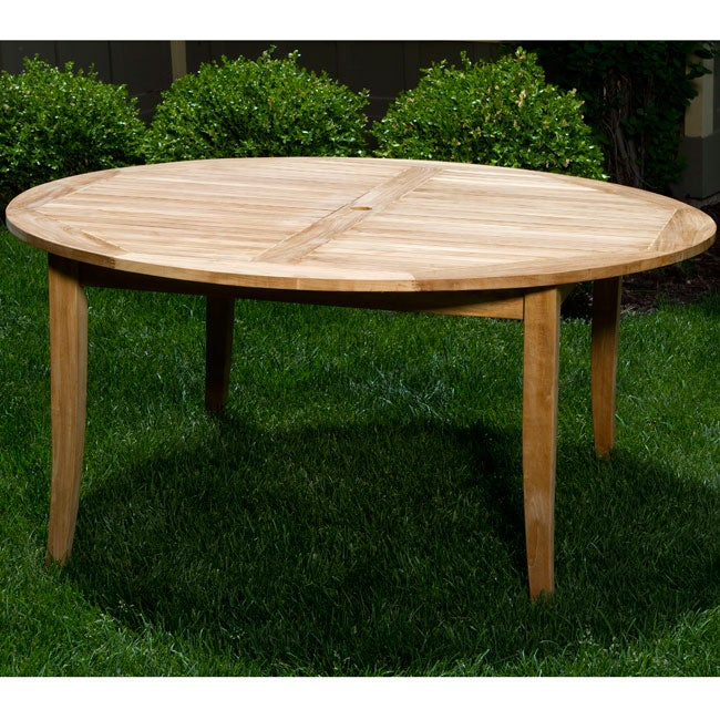"Deluxe Teak 62"" Round Dining Table"