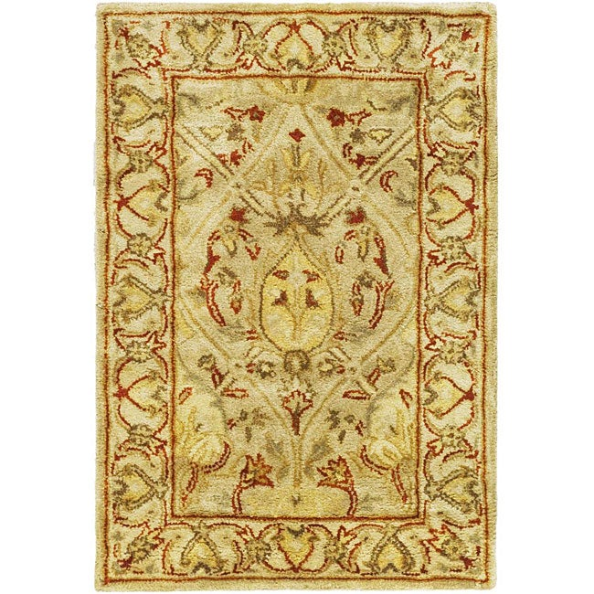 Safavieh Handmade Mahal Light Brown/ Beige New Zealand Wool Rug (2' x 3')