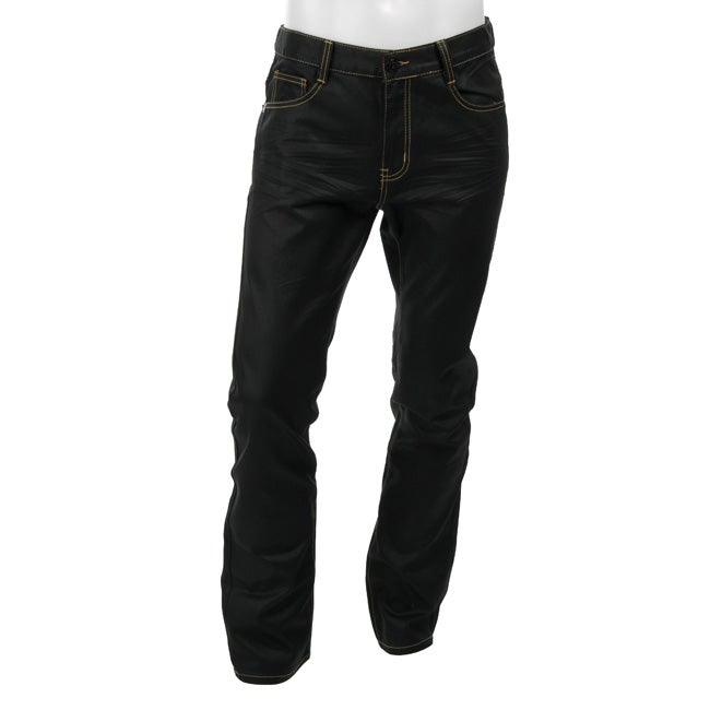 b77f4a36 Shop Cain & Abel Men's Black Denim Jeans - Free Shipping On Orders Over $45  - Overstock - 4491346