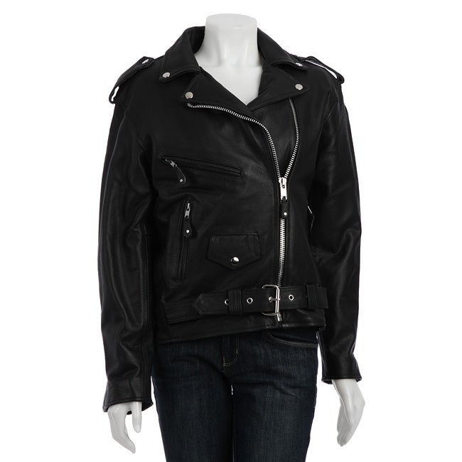 Dealer Leather Brand Women's Leather Motorcycle Jacket