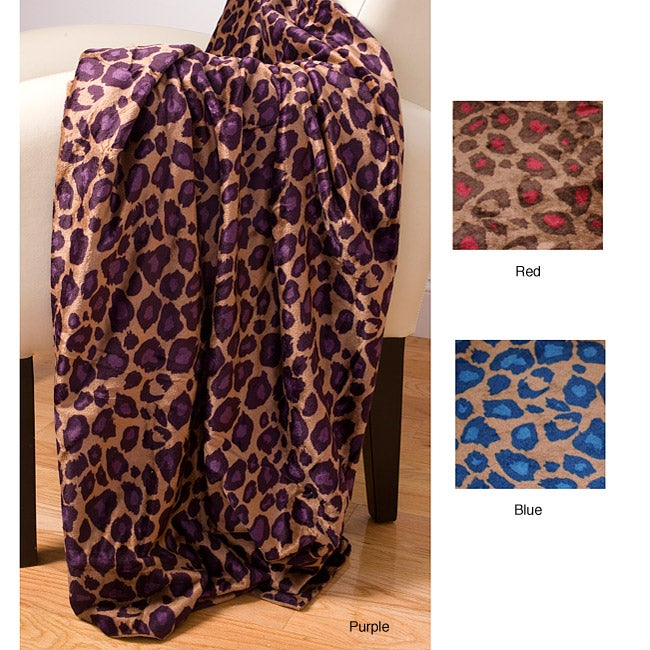 shop fall cheetah microluxe throw blanket free shipping on orders