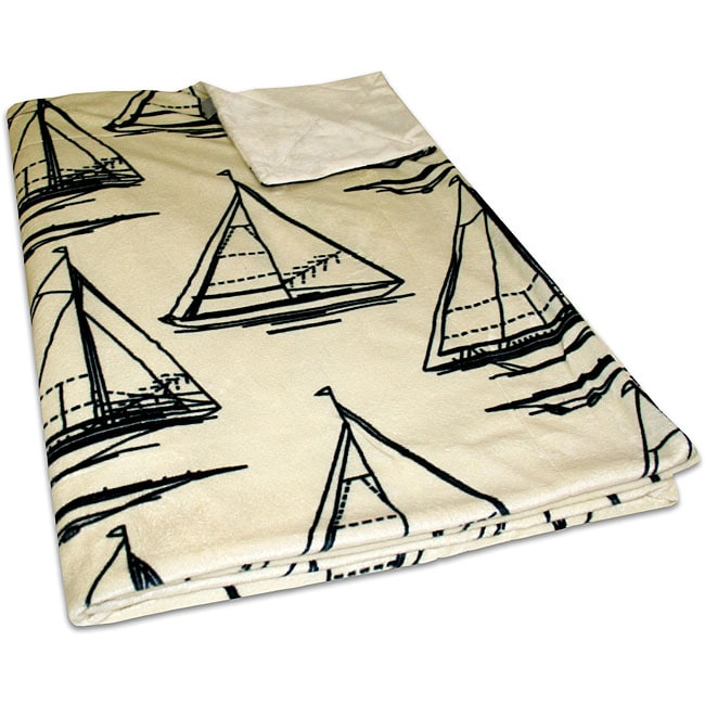 Sailboat Microluxe Throw Blanket