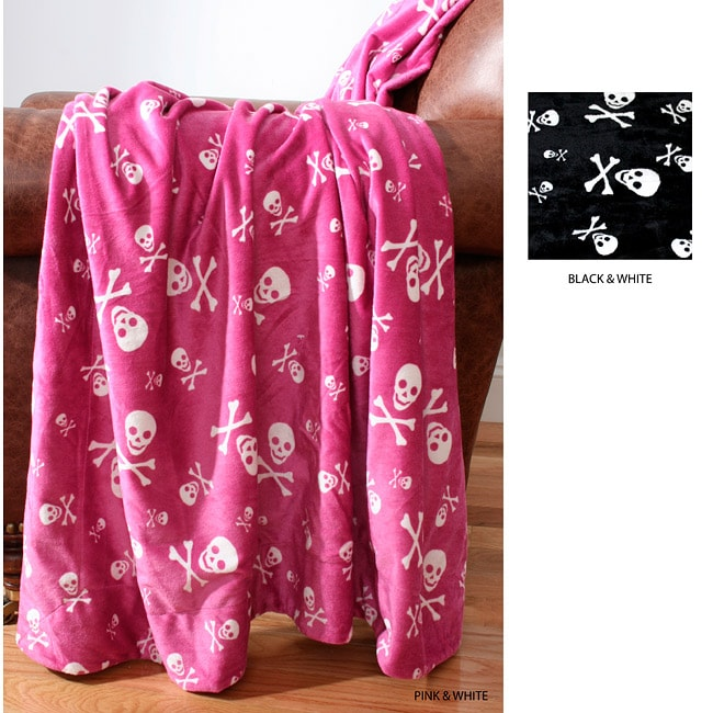 Smiling Skulls Microluxe Throw Blanket