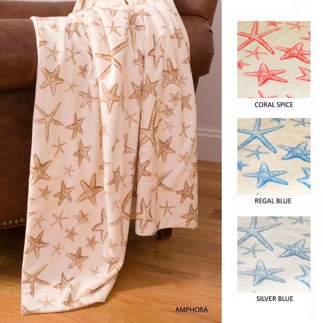 Starfish Microluxe Throw Blanket