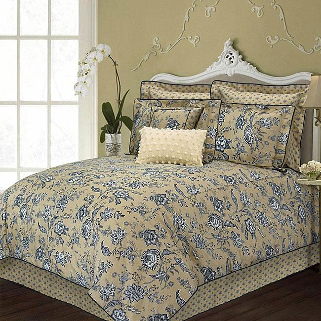 Westone 'Ristretto' Tan/ Black 6-piece Comforter Set
