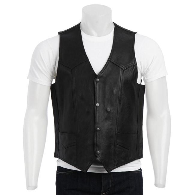 Biker's Dream Apparel Men's Leather Duster Vest