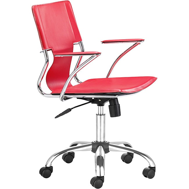Shop Tristan Rolling Office Chair Red On Sale Free