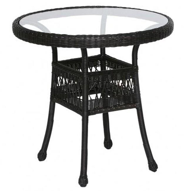 Wicker 30 Inch Round Bistro Table