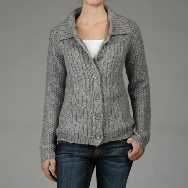Carducci Women's Fisherman Knit Cardigan