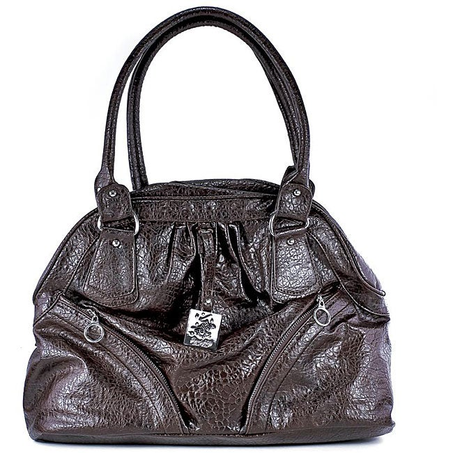 277d81febf85 Shop Beverly Hills Polo Club Brown Satchel - Free Shipping On Orders Over   45 - Overstock.com - 4566448